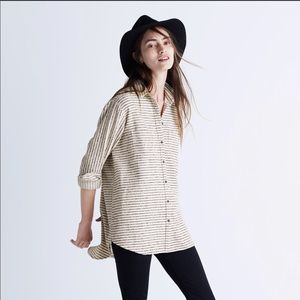 Madewell striped flannel button up